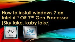 How To Install Windows 7 On Hp Prodesk 400 G4 Or Any Kaby
