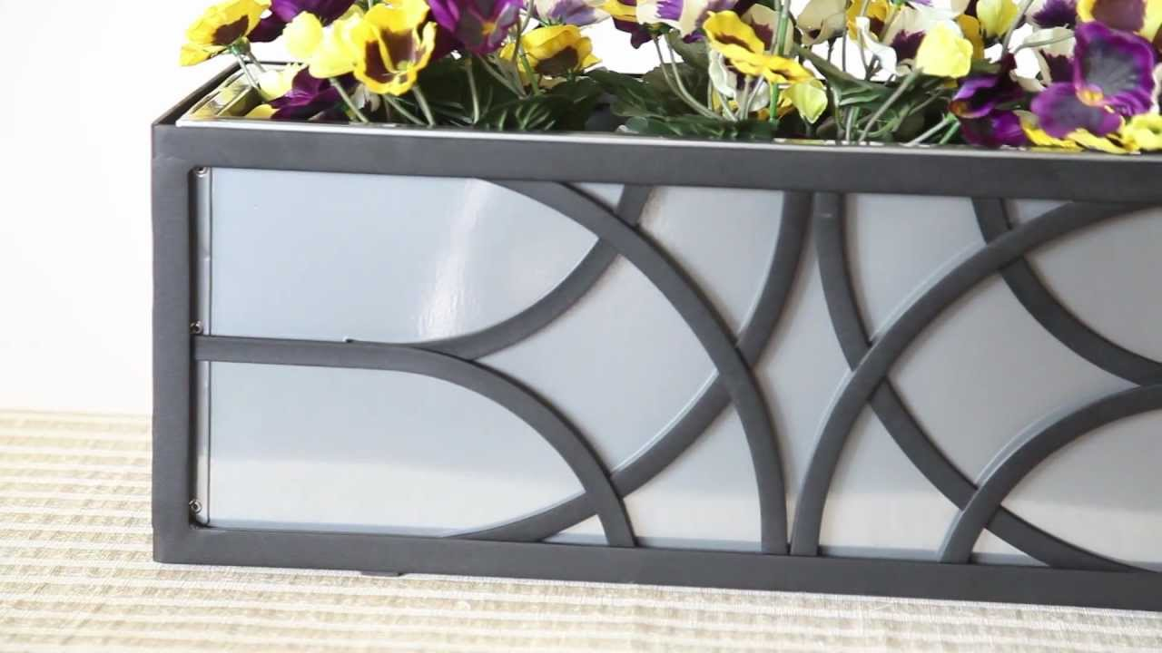 Wrought Iron Window Bo Flower Metal