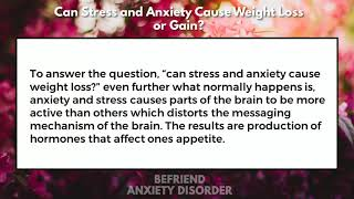 Can Stress and Anxiety Cause Weight Loss or Gain?