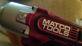 Matco Power Tools unboxing and review.