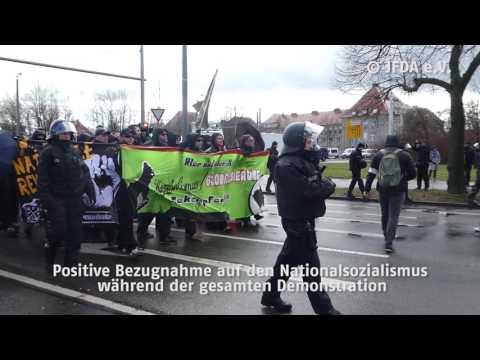 Rechtsextremistische Demonstration in Leipzig, 18. März 2017