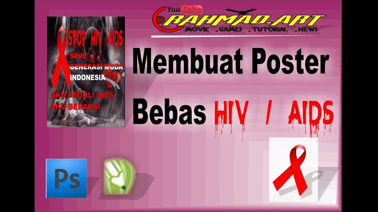Tutorial Membuat Poster Bebas Hiv Aids Youtube