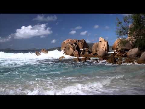 Seychelles / La Digue - Dream Beach Anse Caiman - Wave Sound (1080p)
