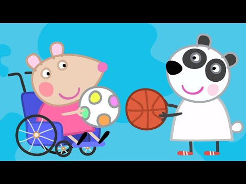 Peppa Pig English Episodes | Meet Mandy Mouse - Sports Special | Peppa Pig