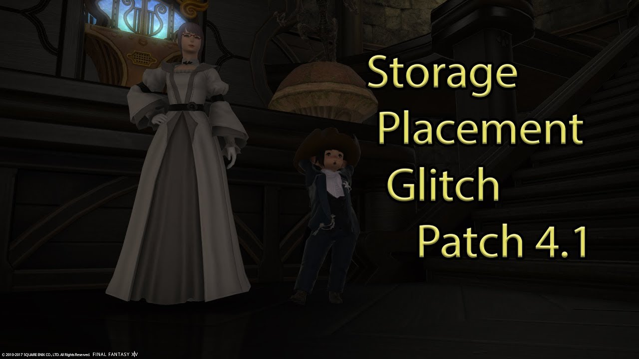 ffxiv housing hack storage room glitch patch 4 1 youtube