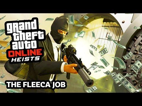 GTA 5 Heist Online Gameplay THE FLEECA JOB Heist! (GTA 5 Online Heist DLC Update Gameplay)