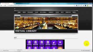 Using the Virtual Library Site