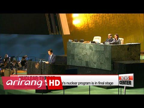 S. Korea's FM warns N. Korea's nuclear program is in final stage