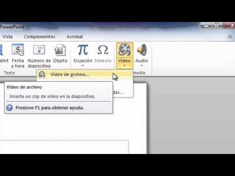 PowerPoint 2010 - Insertar video desde archivo