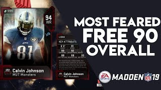 Free 90 Overall From Solos! Ranking Most Feared Cards! Madden 19 Ultimate Team