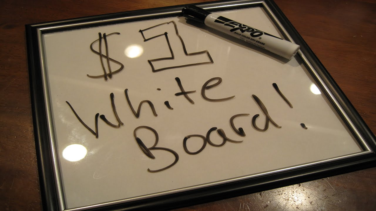 DIY: $1 Whiteboard - YouTube