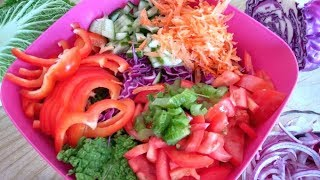 Салат Радуга | Рецепты для похудения