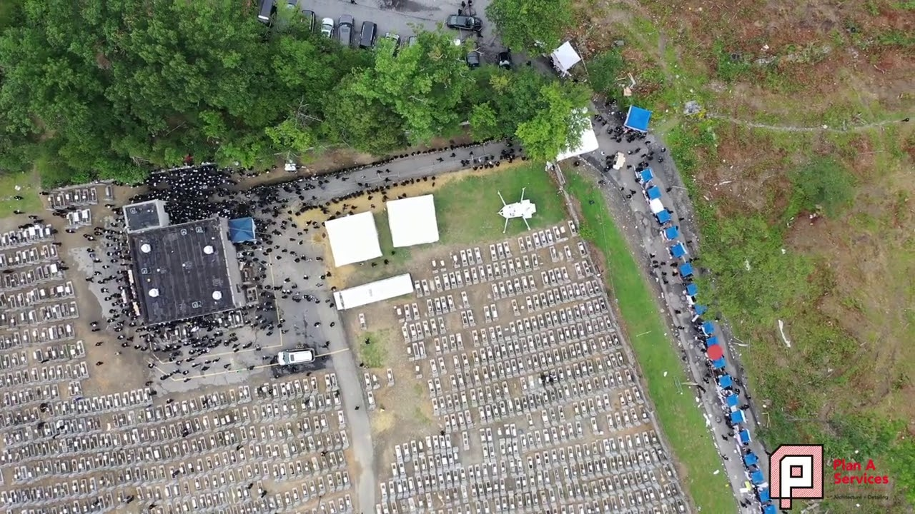 Drone: 41th Yahrtzeit of the Satmar Rebbe Reb Yoel Teitelbaum - Kiryas Joel