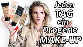 DROGERIE FOUNDATION REVIEW - Make-Ups im LIVE TEST I Werbung vs. Realität I  Cindy Jane