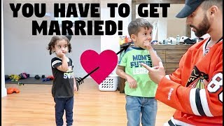 'YOU HAVE TO GET MARRIED' PRANK ON 3 YEAR OLD!!