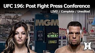 UFC 196: McGregor vs Diaz + Holm vs Tate Post-Fight Press Conference (LIVE / Complete / Unedited)