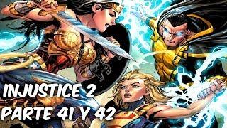 INJUSTICE 2 LA NUEVA GUERRA Y ELECCION DE DAMIAN WAYNE Parte 41 Y 42 @SoyComicsTj