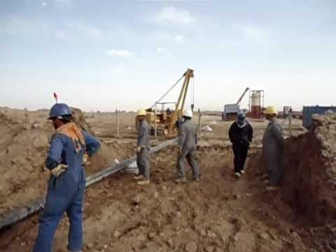 Laying of Pipeline by KASB Company - Ahdeb Project 2011.AVI