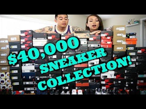 $40,000 Sneaker Collection!?!?! Yeezys, NMD, Ultraboost, Jordan Retros, Kobes