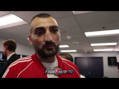 """VANES MARTIROSYAN IMMEDIATELY AFTER GOLOVKIN FIGHT """"HE SURPRISED ME!"""""""