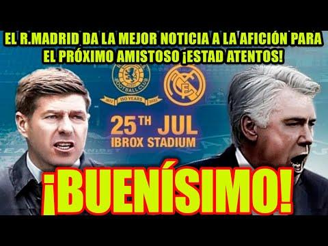 ¡BUENÍSIMO! | El R.Madrid da la mejor noticia a la afición para el próximo amistoso. ¡Estad atentos!