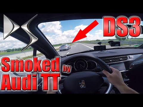 2017 Citroën DS3 Sport Chic (165hp) TOP SPEED, Smoked by Audi TT on Autobahn✔