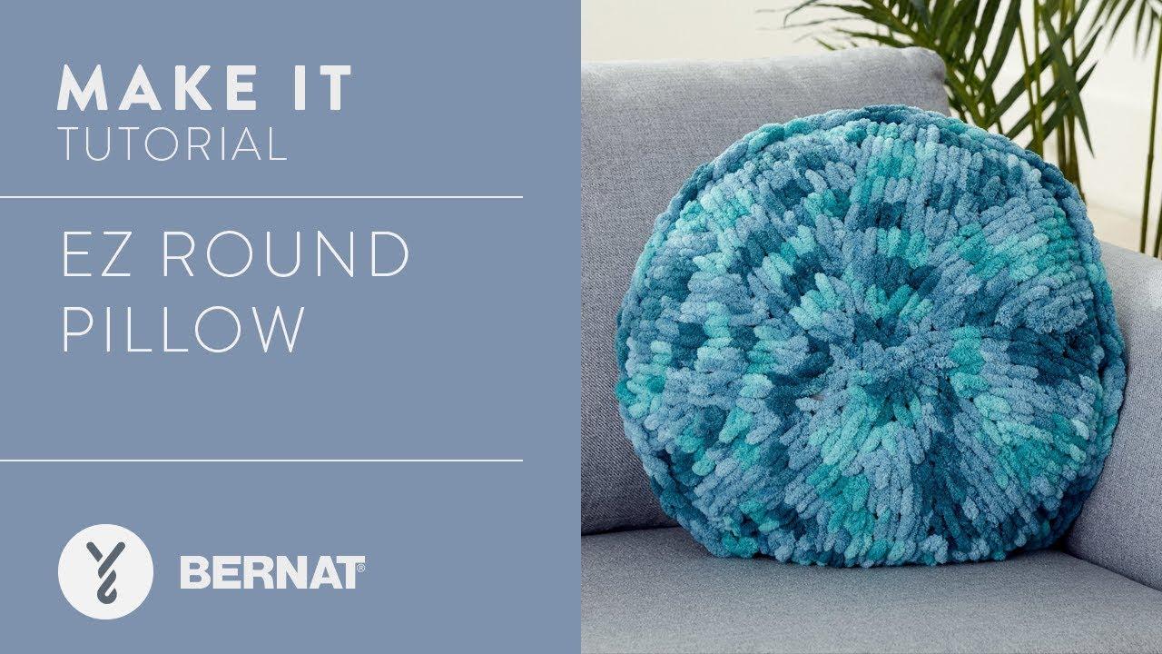 87856a88aa0 EZ Knitting  Round Pillow - YouTube
