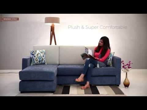 L- Shaped Fabric Sofa – Buy Rialto L shape sofa online @ Wooden Street