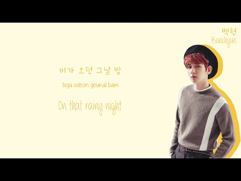 Soyou (소유) & Baekhyun (백현) - Rain (비가와) Lyrics (Color-Coded Han/Rom/Eng)
