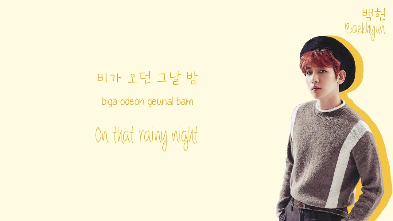 Soyou (소유) & Baekhyun (백현) - Rain (비가와) Lyrics (Color-Coded Han/Rom/Eng)