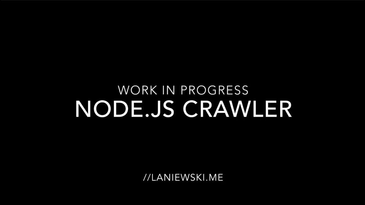 node js web crawler demo sitemap youtube
