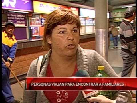 TVN 24 Horas - Terminal de Santiago post terremoto