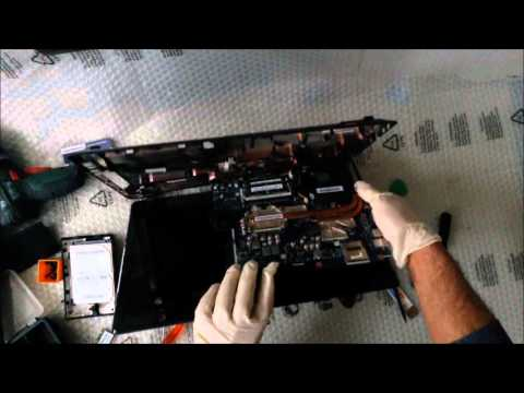 ASUS X53T Smontaggio e rimontaggio con cambio pasta termica. Disassembly, Replacement Thermal Pad