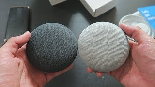 Google Home Mini: Unboxing and Setup (Charcoal & Chalk)