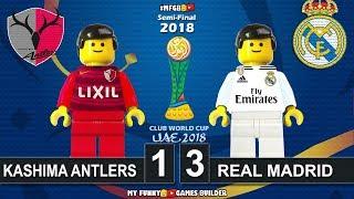 Kashima Antlers vs Real Madrid 1-3 • Semi-Final Club World Cup 2018 (19/12/2018) Goals Lego Football