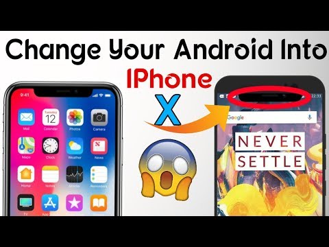 Turn Your Android Phones into iPhone X (Without Root )