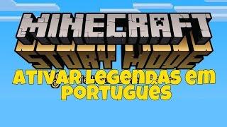 Como colocar legenda em português no Minecraft Story Mode