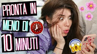 MORNING ROUTINE PRONTA IN 10 MINUTI... PRIMAVERA 2019! 😱⏰🌸| Adriana Spink