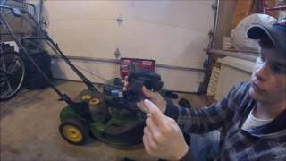How to fix a lawnmower after sitting (John Deere JS40) Part 1
