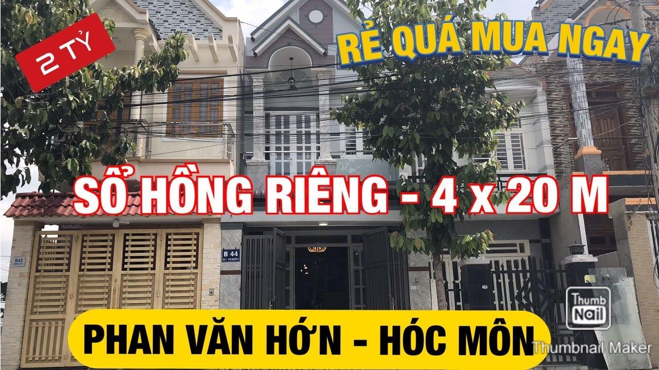 image Bán nhà đất Hóc Môn 2020 ✅ Kẹt tiền bán nhà sổ Hồng riêng 4 x 20 giá 2 tỷ đường Phan Văn Hớn