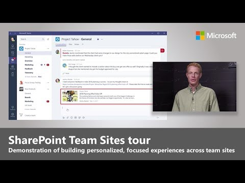 Personalized, focused experiences across your SharePoint team sites