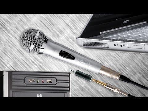 Как подключить караоке микрофон к ноутбуку