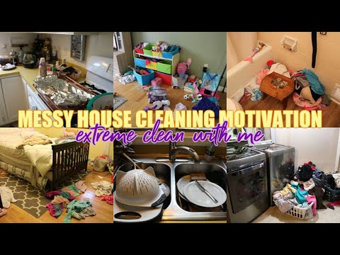EXTREME CLEAN WITH ME 2019 | FALL CLEANING MOTIVATION | MESSY HOUSE TRANSFORMATION