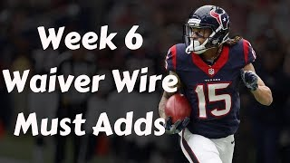 Fantasy Football 2019 Week 6 Waiver Wire Must Adds (TIMESTAMPS)