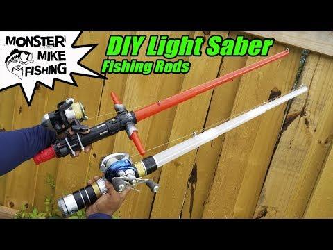 DIY Star Wars Lightsaber Fishing Rod | Monster Mike