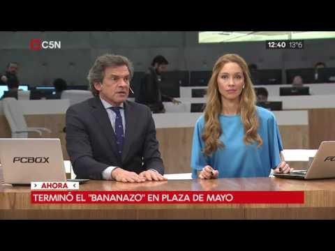 """""""Bananazo"""" en Plaza de Mayo, los números en argentina"""