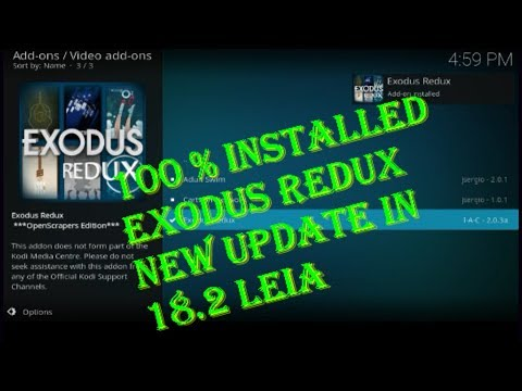 2019 MAY!!! New Update How To Install Exodus Redux Kodi Addon In 18 2 Leia