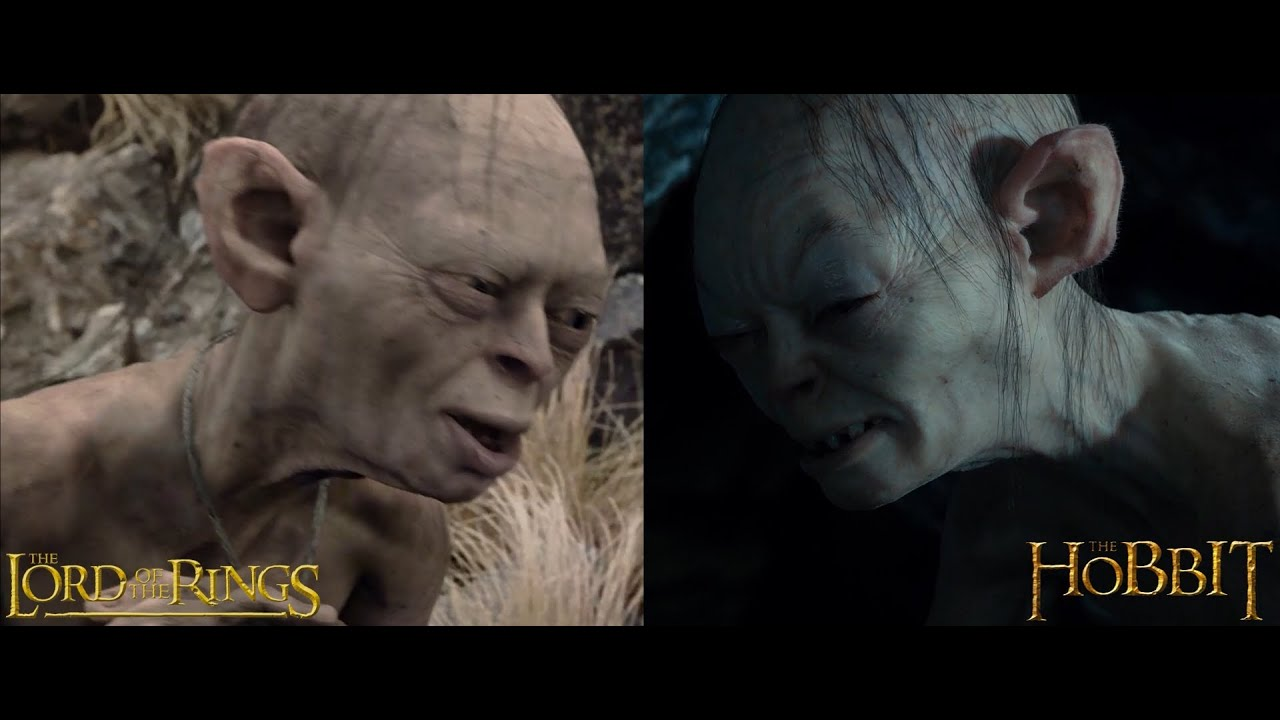 gollum the lord of the rings vs the hobbit youtube