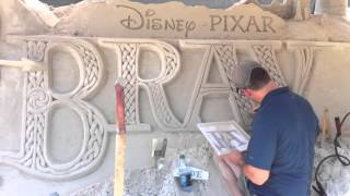 Sand Art Disney Brave Pixar at Epcot Rose Garden