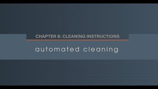 Chapter 8.3 Automated Cleaning